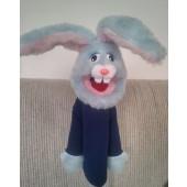 little bunny rabbit puppet blue