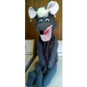 gray girl mouse puppet
