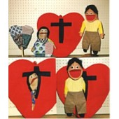 Patchwork Heart Puppet Set (3)