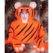 Orange Tiger Human Arm