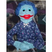Deluxe Extra Large Blue Mom Puppet