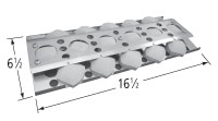 "16-1/2"" X 6-1/2"" Stainless Steel Heat Plate"