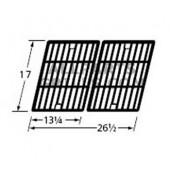"""17 x 26-1/2"""" Matte Cast Iron Cooking Grids-2pc"""