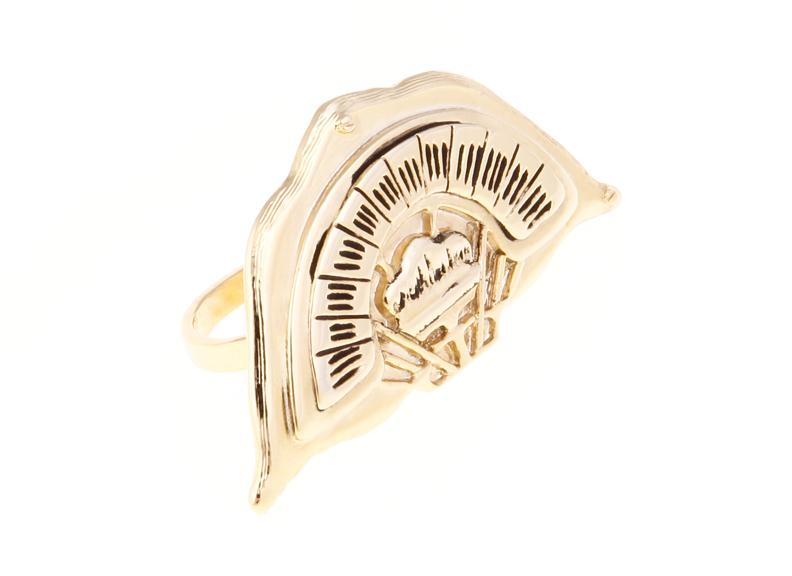 Radio Dial Double Finger Ring