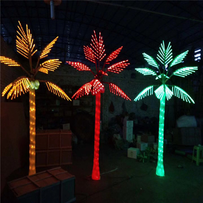 Lighted Artificial Led Palm Trees, Outdoor Led Palm Tree